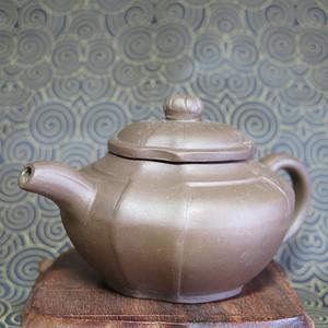 70年代抽角四方紫砂壶