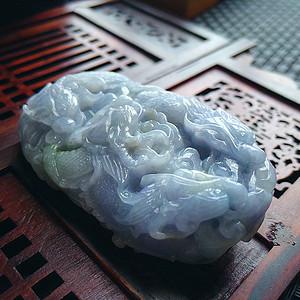 冰润紫罗兰九龙吐珠挂件