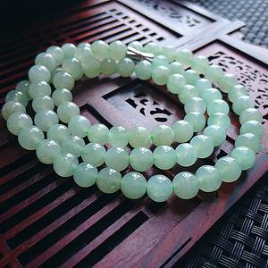 冰种绿圆珠项链