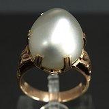 美国回流 14K金 天然珍珠宝石戒指