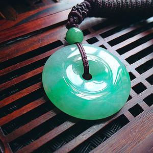 冰润绿平安扣吊坠