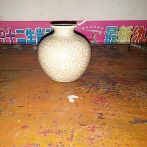 一个百裂瓷小罐