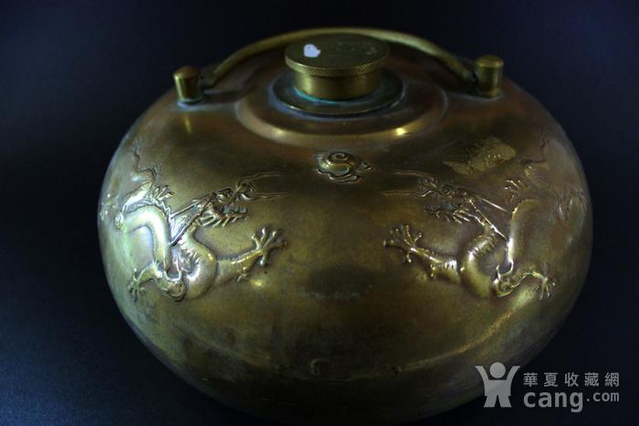 皇家气派 清 铜五爪龙纹龙纹暖炉图2