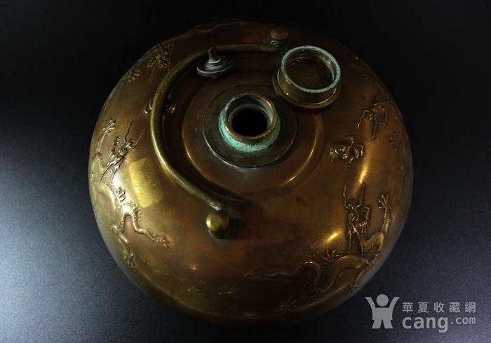 皇家气派 清 铜五爪龙纹龙纹暖炉图4