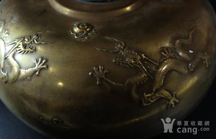 皇家气派 清 铜五爪龙纹龙纹暖炉图5