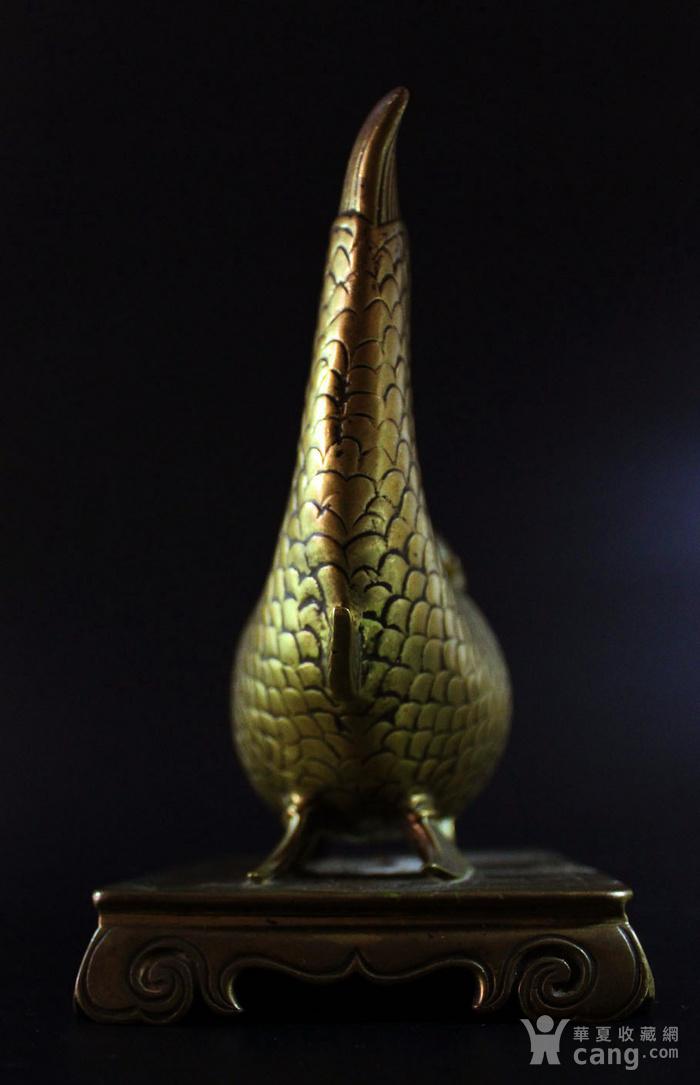 重点 明 清 宣德年制铜鎏金鱼龙水盂图4