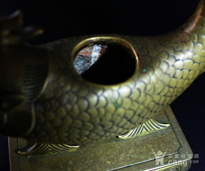 重点 明 清 宣德年制铜鎏金鱼龙水盂图5