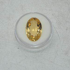 12克拉黄水晶戒面