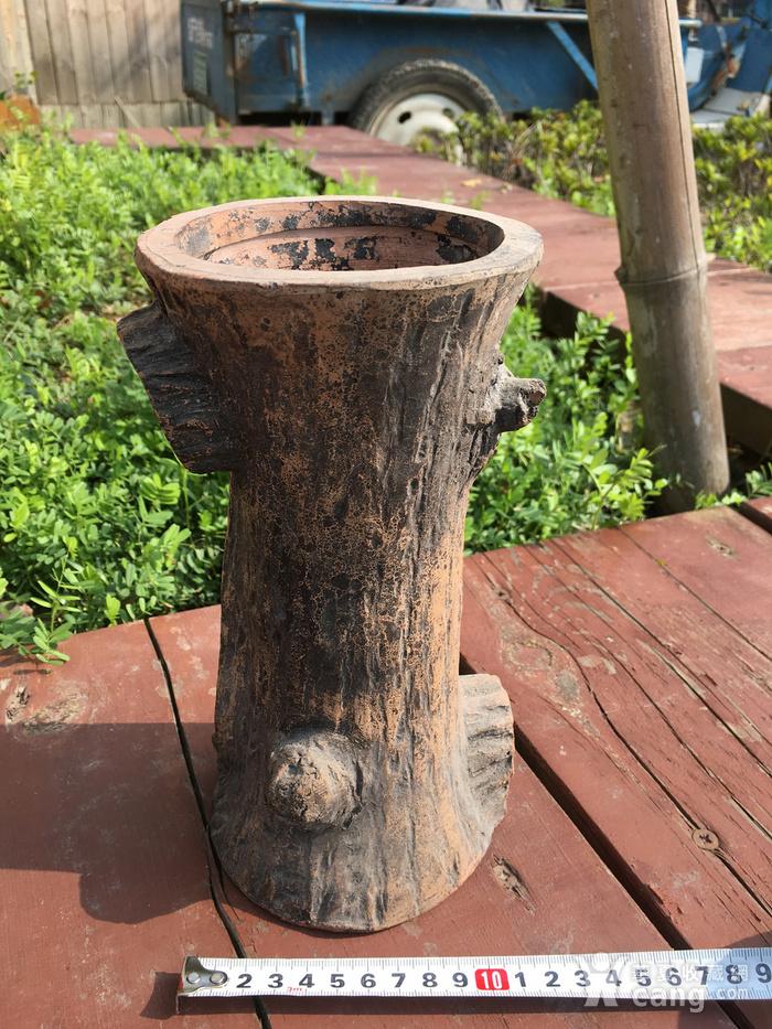 树桩型陶艺摆件图3