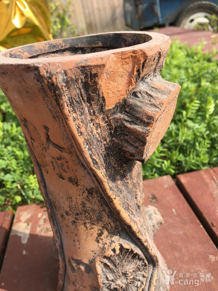 树桩型陶艺摆件图5