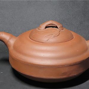 70年代竹鼓紫砂大壶