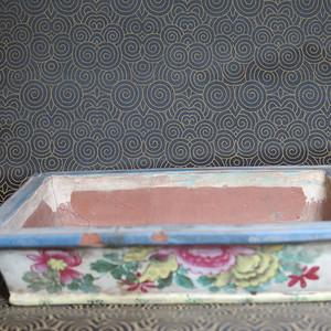 清代中期加彩紫砂长盆