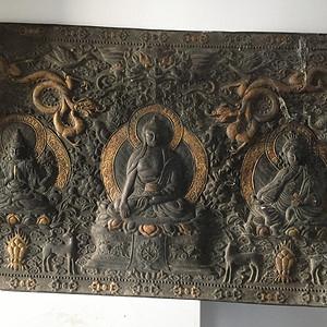 铜浮雕佛像三尊