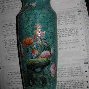 晚清,民国时期观音瓶。高22厘米。
