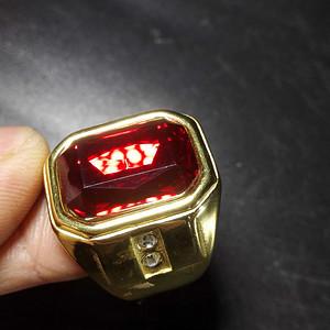 鎏金宝石戒指