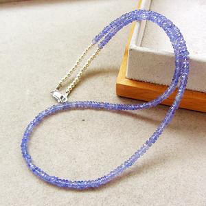 天然坦桑石!海洋之心宝石刻面高档珠宝项链手链!