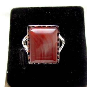 纯天然原矿四川凉山南红玛瑙完美冰飘胭脂红高档纯银大戒指!