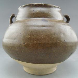 129.元代 茶叶末釉双系罐