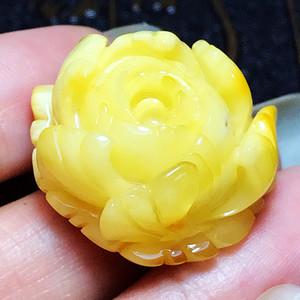 珍贵白蜜!波罗的海纯天然原矿无优化满蜜白花蜜蜡花开富贵