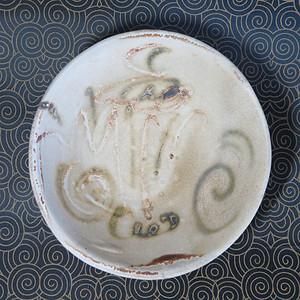 唐代长沙窑褐釉划画大盘