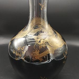 清乌金釉玉壶春瓶