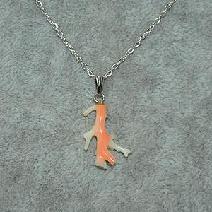 2.1克珊瑚枝吊坠项链