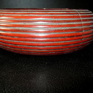 清代黑红大漆围棋罐