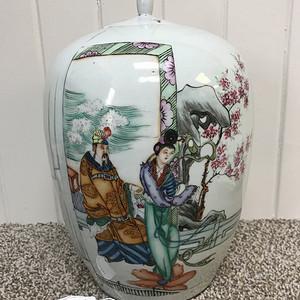 联盟 ck501民国粉彩国色天香冬瓜罐
