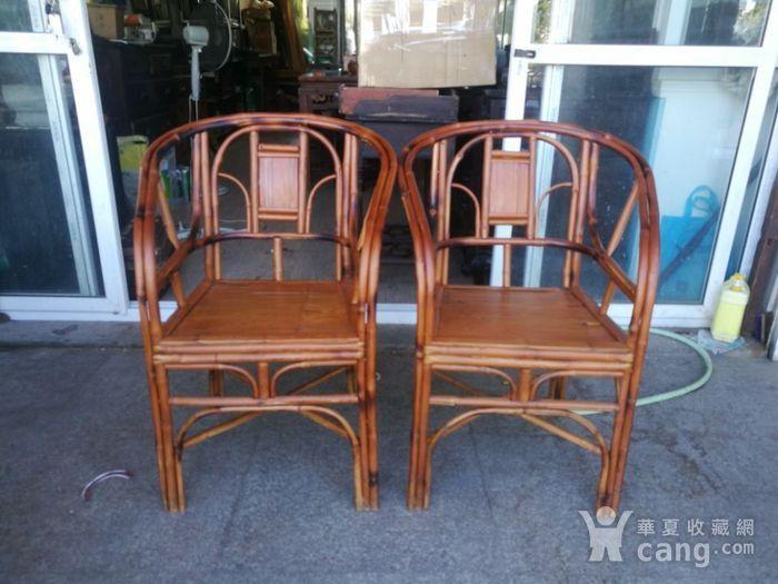 一对非常漂亮的竹圈椅图1