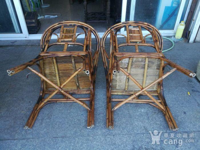一对非常漂亮的竹圈椅图6