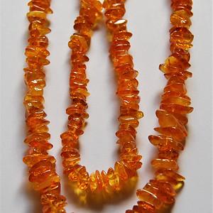 金牌 天然 金琥珀项链