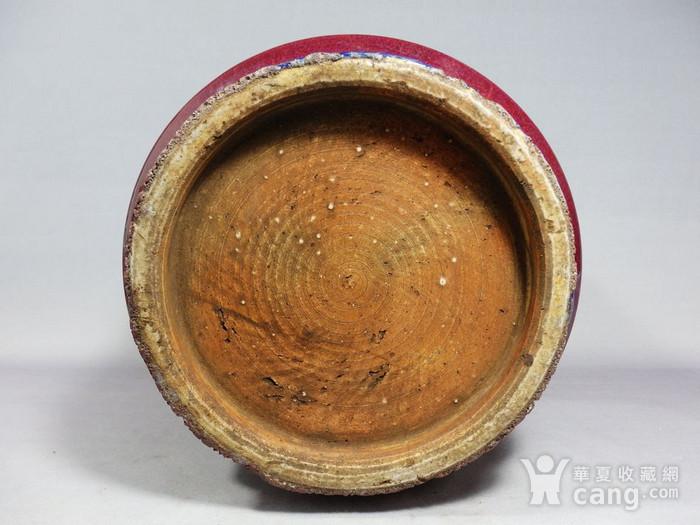 乾隆红釉筒式香炉图5