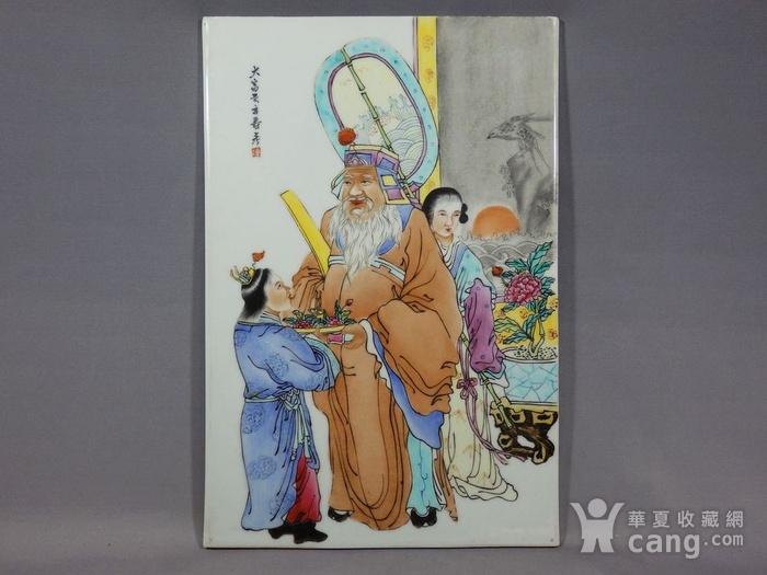 民国粉彩大富大贵人物绘画瓷板图1