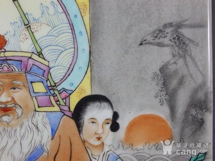 民国粉彩大富大贵人物绘画瓷板图5