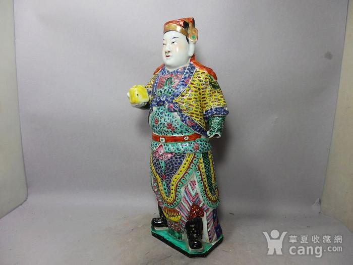 清代粉彩武将军塑像图2