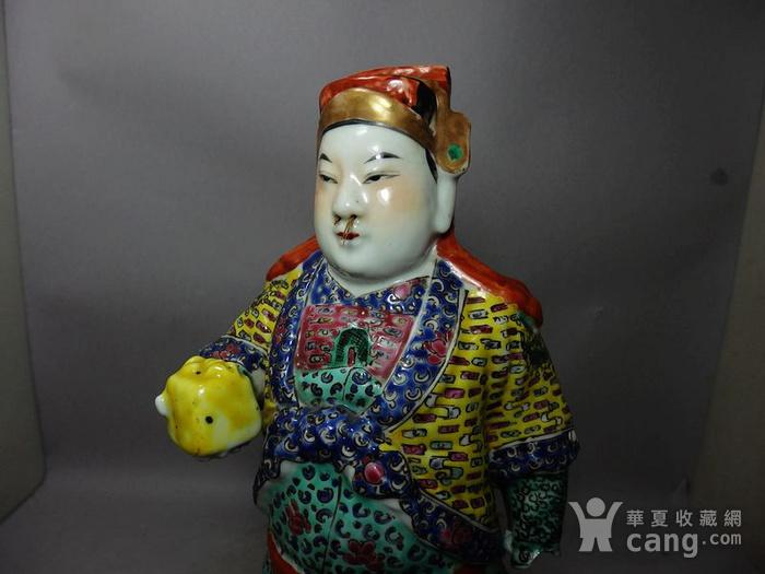 清代粉彩武将军塑像图5