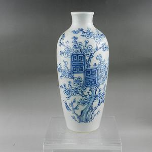 清道光青花花卉纹莱菔瓶 联盟
