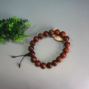红酸枝原木手持佛珠串