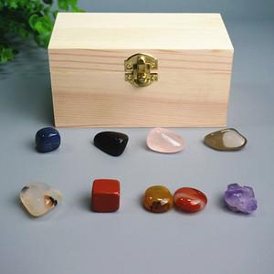 八种宝石晶体标本盒