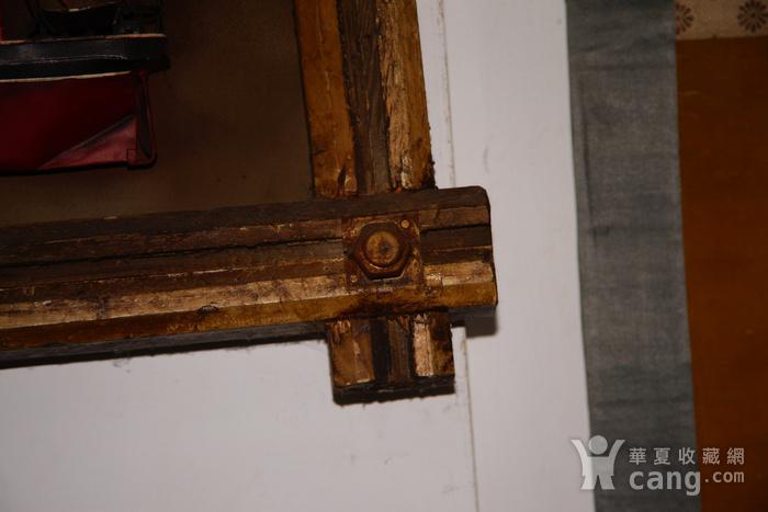 欧洲十八世纪的汽船模型木框金属材质 少见品牛皮带图7