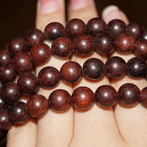 正宗印度小叶紫檀项链缠珠108颗