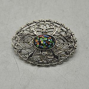 9.5克镶琉璃金属胸针