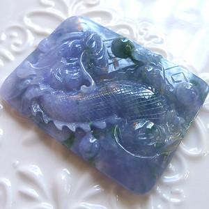 A货翡翠冰糯种龙牌26.96g
