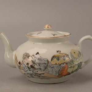 欧洲回流人物茶壶