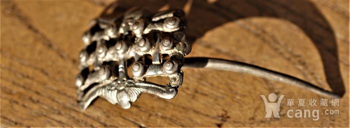 回流百年前的银簪。图7