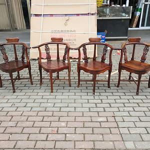 造型漂亮红酸枝椅子一套