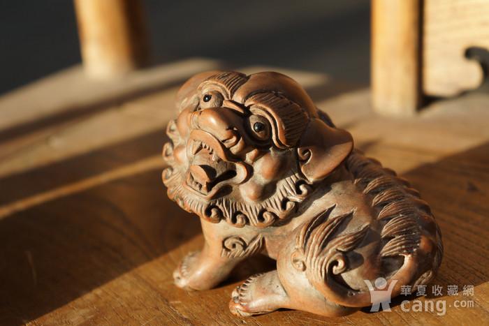 回流光绪年间黄杨木雕巧雕狮子一对图5