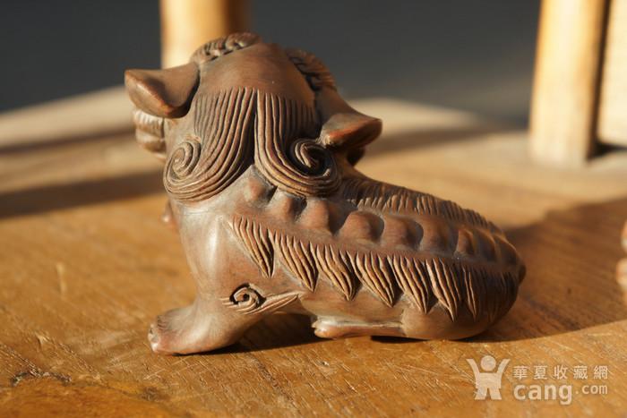 回流光绪年间黄杨木雕巧雕狮子一对图7