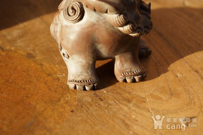 回流光绪年间黄杨木雕巧雕狮子一对图10