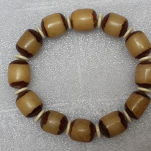 7 白玉菩提根手串1.1X1.2厘米